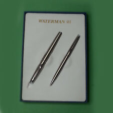 Waterman Fountain Pen and Ballpoin Pen Set Chrome Comes with 2 ink cartridges