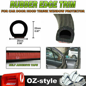 Self-adhesive Holoow Soundproof Rubber Seal Trim Car Door Trunk Protection 5Ms