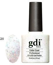 Diamond Glitter Nail GEL Polish by GDI Nails London UV LED Soak 8ml Post K20 - Moonlight Bedazzled
