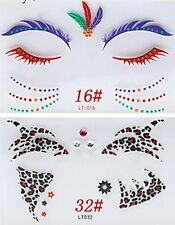 Eye/Face Stickers Temporary Transfer Party Wear Animal Print, Eyelash