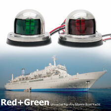 Pair Marine Bow Light 12V Stainless Steel LED Navigation Side Lights Boat Yacht