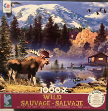 CEACO PUZZLE WILD Savage MOOSE CABIN HOWARD ROBINSON 1000 PCS #3393-5