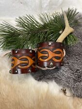 Handcrafted Viking Leather Cuffs
