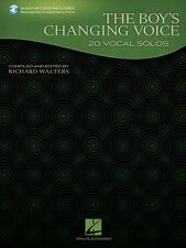 The Boy's Changing Voice 20 Vocal Solos Collection Book and Audio NEW 000121394