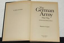 The German Army 1933-1945Matthew Cooper WWII Germany MILITARY HISTORY PHOTOS
