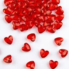 Diamond Hearts - Table Decoration for Wedding or Valentine - Red - 12mm