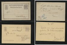 Luxembourg postal cards used , one with box cancel