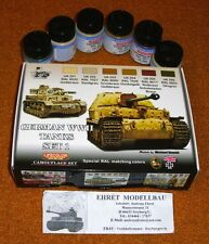 WWII GERMAN PANZER serbatoi Set 1 Acrilico farbset cs01 con 6 colori Lifecolor NUOVO