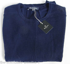 AQUASCUTUM Ladies SOPHIA Crew neck CASHMERE Jumper Sweater sz M NAVY BLUE BNWT