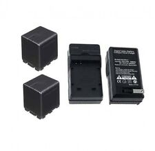 TWO 2 Batteries + Charger for Panasonic HCV10 HCV10M HCV10KE HCV11M HCV11 HCV11E