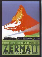 1920's Zermatt Switzerland Tourism  Poster  A3 Reprint