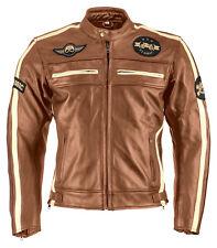 Classic Motorrad Lederjacke Vintage Chopper Motorradjacke braun Gr. M bis XXXL