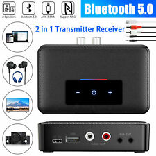 PC 3.5MM Wireless Hifi Stereo Receiver Transmitter NFC to 2 RCA Audio Adapter