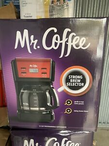 Mr. Coffee 2082689 12 Cup Automatic Drip Coffee Maker -black And Red