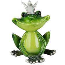 Formano Frosch Froschkönig gras grün Kunststein Stein Figur 12 cm NEU