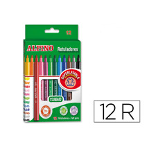 Caja 12 rotuladores de Colores Alpino punta fina  Multicolor