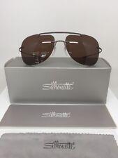 Silhouette Titanium Sunglasses 8665 EXPLORER Brown Polarized Brown 8665 40 6201