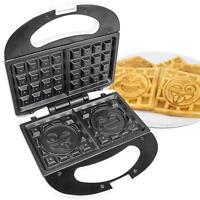 2 Slice Emoji Waffle Maker, Flip Double Waffle Iron