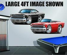 1966 Mercury Comet 427 Hood 4ft Long Wall Graphic Decal Sticker Man Cave Decor