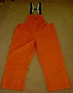 Carhartt Men 149046 R39ORG RN#14806 Rain Bib Overalls Waterproof Orange 2XL Tall
