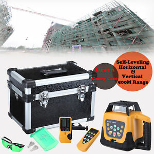 Automatic Green Beam 5 degree Self Levelling 500m Laser Level Tool Rotary Green