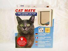 Cat Mate Cat Flap Door White 4 Way Locking Flap White