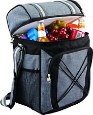 Insulated Cooler Bag Camping Picnic Hamper Double Cool Bag Lunch Box, 24 Litre