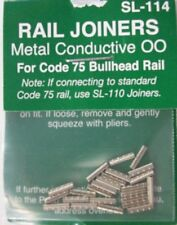 PECO Sl-114 Metal Track Joiners Suit Code 75 OO Bullhead Rail Only