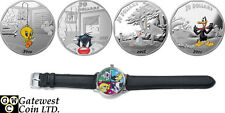 2015 $20 Fine Silver 4-Coin Set and Watch -Looney Tunes (TM) (.9999 Fine)(17331)