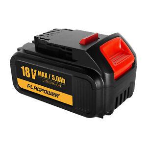 18V 5.0Ah Li-ion Battery for Dewalt XR DCB184 DCB182 DCB185 DCD740 DCD780 Slide