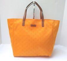 GUCCI Tote Medio Borsetta Guccissima Borsa Shopper Arancione Monogram Auth + ricevuta
