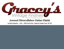 -Ice Blue- Gracey's Vintage Finishes Nitrocellulose Guitar Lacquer Aerosol.