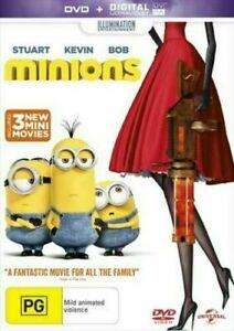 MINIONS DVD INC ULTRAVIOLET + 3 NEW MINI MOVIES REGION  NEW AND SEALED