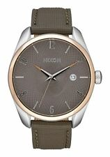 NWT Nixon Bullet Leather Watch Rose Gold Taupe Mens Womens aa90