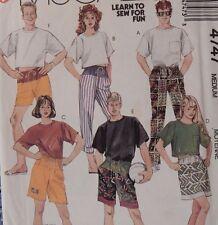 "4747 McCall's Men's Pull on Pants & Shorts  T Shirt size Medium 36-38"" Chest"