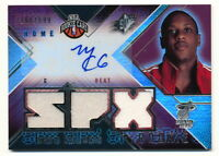 MARIO CHALMERS RC 2008-09 UD SPX ROOKIE JERSEY AUTO #166/599 HEAT AUTOGRAPH