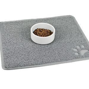 Cat Bowl Mat Large Pet Feeding Pad Food Water Dishes Non-Slip Kitten Dog Puppy