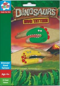 Dinosaur Hand Puppet Tattoos Party Favours 24pk - Dinosaur Party Supplies