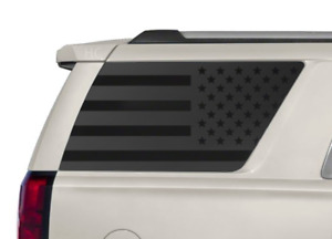 USA Flag Decals fits Rear window 2015-2020 Chevy Tahoe GMC Yukon 5 Stripe CT8