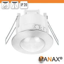 Couvertures-installation-Détecteur mvt (2 pièce) Argent/Blanc 360 ° tels que montage projecteur pir