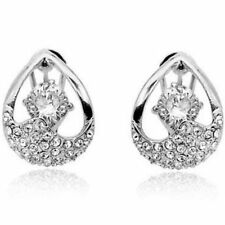 Omega back Round Cubic Zirconia Costume Earrings