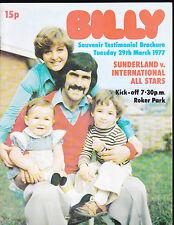 1976/77 SUNDERLAND V INTERNATIONAL STARS 29-03-1977  Billy Hughes Testimonial
