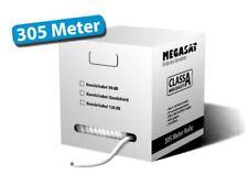 Megasat K0150 Koaxialkabel 305m 120dB weiß 7,2mm Pull-Out-Box Antennenkabel