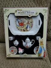 Vintage BEATRIX POTTER CHILDS MINIATURE TEA SET Doll House REUTTER PORZELLAN