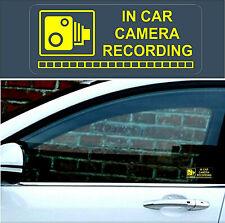 2 x Warning Stickers Signs CCTV Video Camera Recording Car Vehicle Yellow +