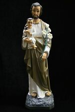 "19"" Saint Joseph with Holy Baby Jesus Catholic Statue Sculpture Made in Italy"