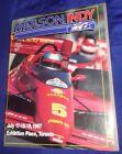 BG707 Vtg Molson Indy Toronto Ontario ON Official Race Program 1987