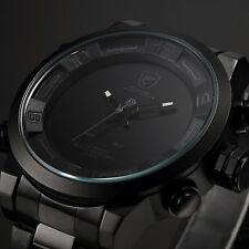 SHARK Mens LED Digital Quartz Wrist Watch Alarm Date Sport Army Stainless Steel