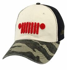 RARE NEW JEEP WRANGLER RUBICON UNLIMITED SPORTSMAN'S GRILLE CAMOUFLAGE HAT CAP!