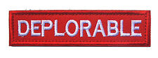 ARMY Patches DEPLORABLE MORALE BADGE HOOK PATCH   hk 846